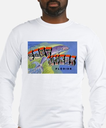 Fort Myers Florida Greetings (Front) Long Sleeve T