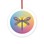 Dragonfly1 - Sun Ornament (Round)