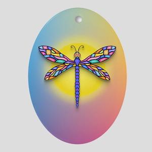 Dragonfly1 - Sun Ornament (Oval)