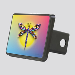 Dragonfly1 - Sun Rectangular Hitch Cover