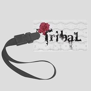 tribal bg Large Luggage Tag