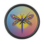 Dragonfly1 - Sun Large Wall Clock