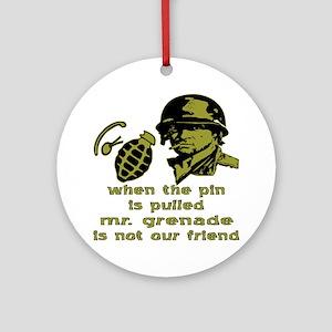 Mr. Grenade Ornament (Round)