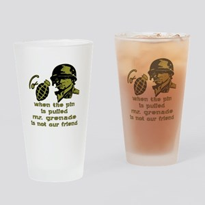 Mr. Grenade Drinking Glass