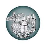 """Vancouver Inukshuk Souvenir 3.5"""" Button (100 pack)"""