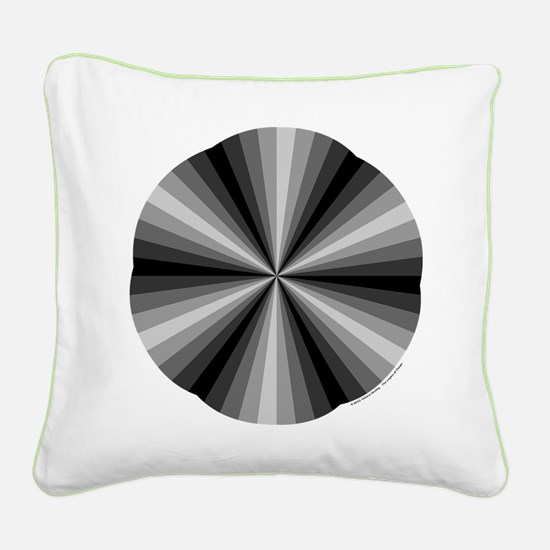 Black Illusion Square Canvas Pillow