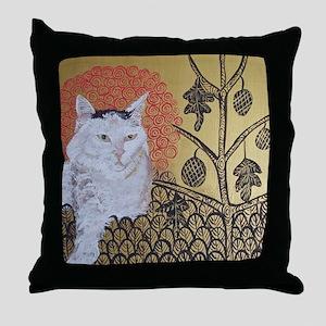 """Klimt's Cat"" Throw Pillow"