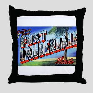 Fort Lauderdale Florida Greetings Throw Pillow