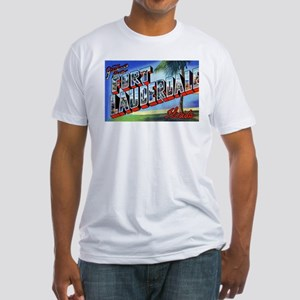 Fort Lauderdale Florida Greetings (Front) Fitted T