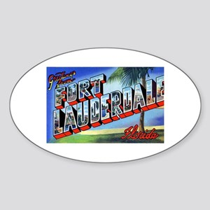Fort Lauderdale Florida Greetings Oval Sticker