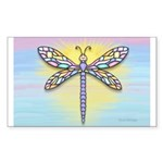 Pastel Dragonfly Sticker (Rectangle)