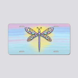 Pastel Dragonfly Aluminum License Plate