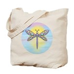 Pastel Dragonfly Tote Bag
