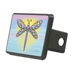 Pastel Dragonfly Rectangular Hitch Cover