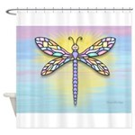 Pastel Dragonfly Shower Curtain