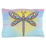 Pastel Dragonfly Pillow Case