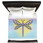 Pastel Dragonfly King Duvet