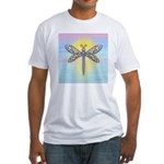 Pastel Dragonfly Fitted T-Shirt