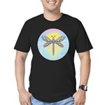 Pastel Dragonfly Men's Fitted T-Shirt (dark)