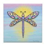 Pastel Dragonfly Tile Coaster