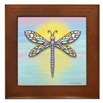 Pastel Dragonfly Framed Tile