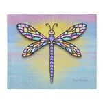 Pastel Dragonfly Throw Blanket