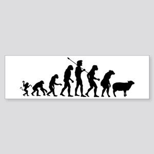 Evolution of Sheeple Sticker (Bumper)