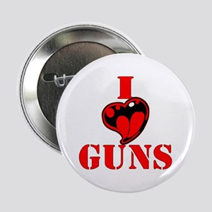 "I (Heart) Love Guns 2.25"" Button"