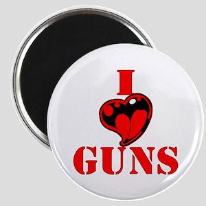 I (Heart) Love Guns Magnet