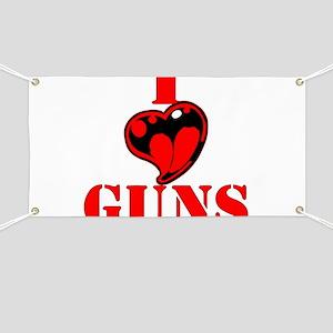 I (Heart) Love Guns Banner