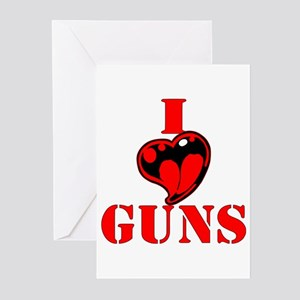I (Heart) Love Guns Greeting Cards (Pk of 20)