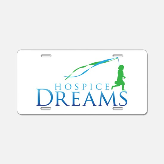 Hospice Dreams Logo Aluminum License Plate