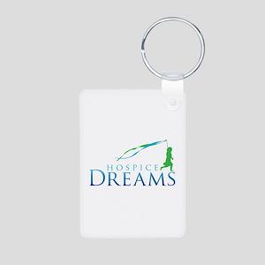 Hospice Dreams Logo Aluminum Photo Keychain