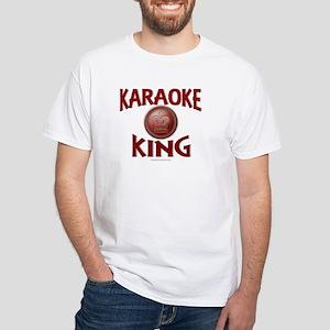 KARAOKE KING White T-Shirt