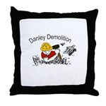 Danley logo with black lettering Throw Pillow