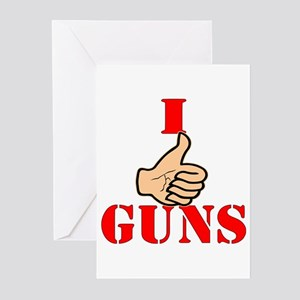 I (Thumbs Up) Like Guns Greeting Cards (Pk of 20)
