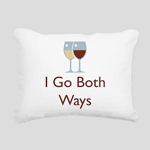 I go both ways Rectangular Canvas Pillow