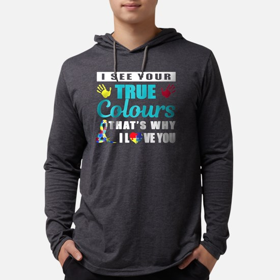 AUTISM I SEE YOUR TRUE COLOUR SH Mens Hooded Shirt