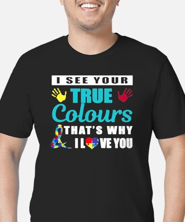 Cute Autism Men's Fitted T-Shirt (dark)