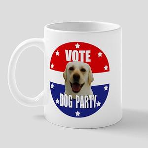 Vote: Dog Party! Mug