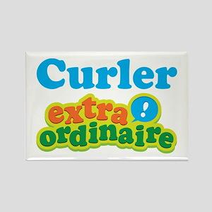 Curler Extraordinaire Rectangle Magnet