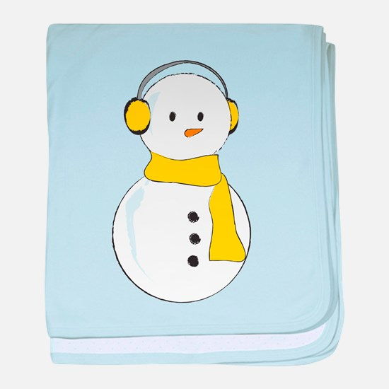 Snowkid Yellow baby blanket