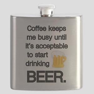 Coffee Until Beer Flask