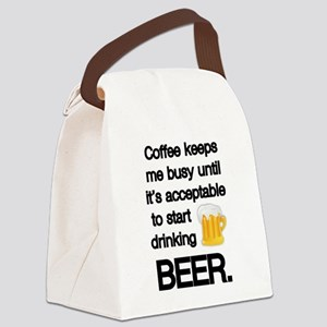 Coffee Until Beer Canvas Lunch Bag
