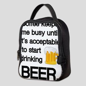 Coffee Until Beer Neoprene Lunch Bag