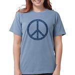 Blue Peace Sign Womens Comfort Colors Shirt