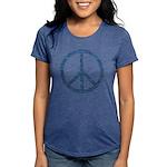 Blue Peace Sign Womens Tri-blend T-Shirt