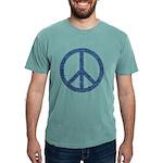 Blue Peace Sign Mens Comfort Colors Shirt