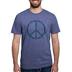 Blue Peace Sign Mens Tri-blend T-Shirt