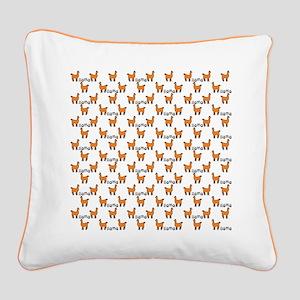 Llama Mania Square Canvas Pillow